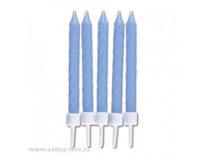 Modré dortové svíčky 10kusů 910164
