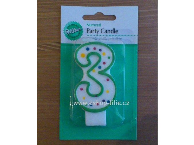 Dortová svíčka 3 - Wilton 2811-9103