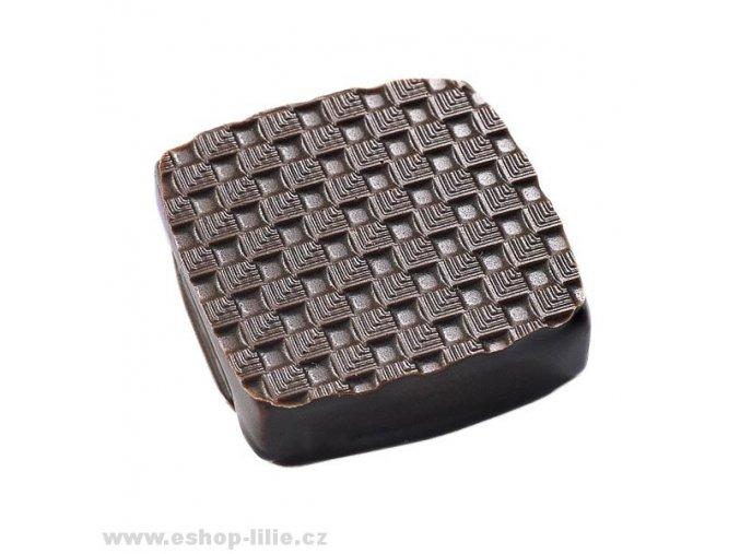 Damier struktur folie na čokoládu a marcipán