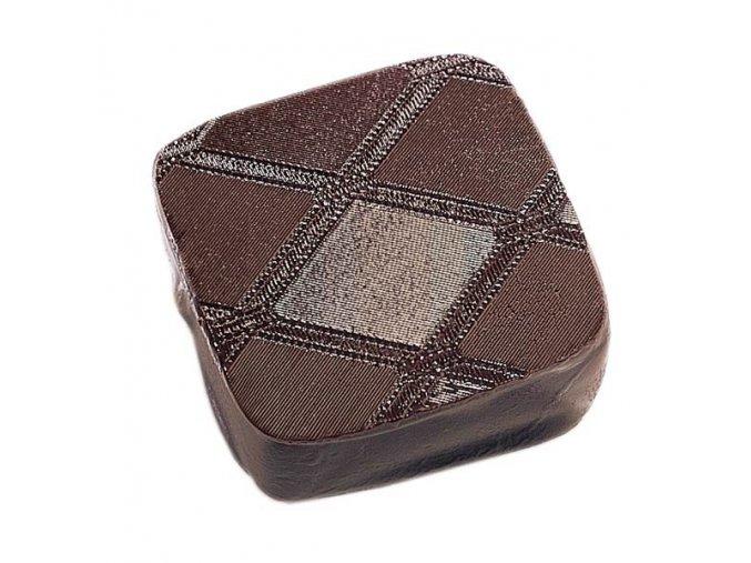 Kosočtverce ST10 strukturální folie na čokoládu
