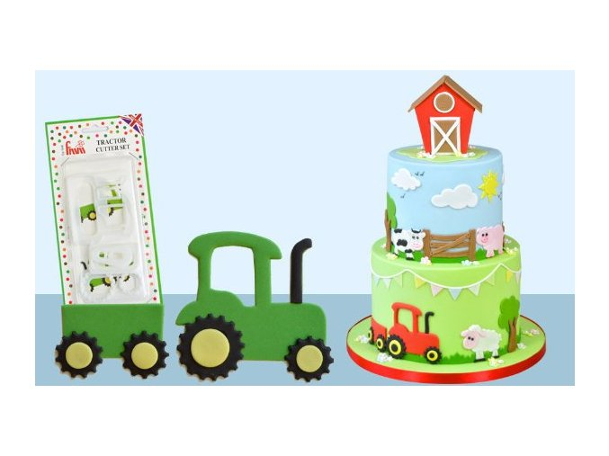 Traktor - set vykrajovačů CUTTRACT