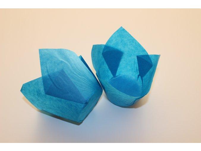 Modré cukrářské tulipánové košíčky 50ks