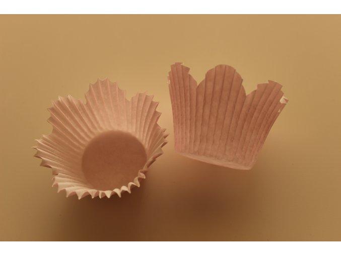 Květ světle růžové cukrářské košíčky 34ks