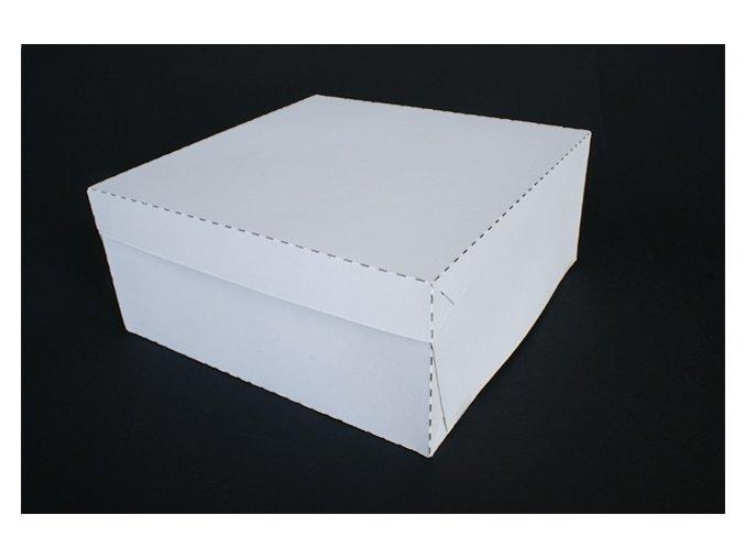 Dortová krabice silnější bílá 28cm x 28cm 5ks