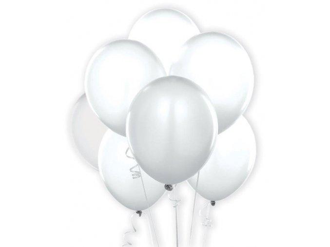 7 Bílých balónků B-30