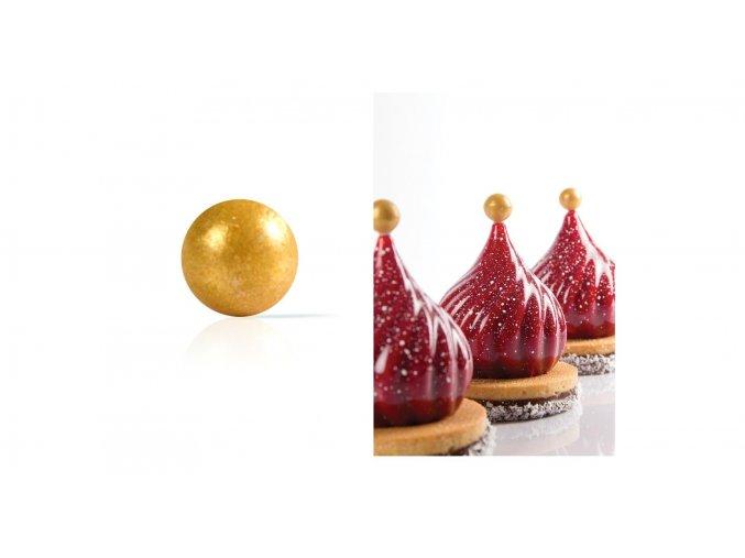 Zlatá perla čokoládová dekorace 24ks