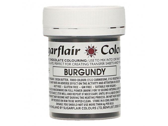 sugarflair chocolate colouring 35g burgundy 44378 p