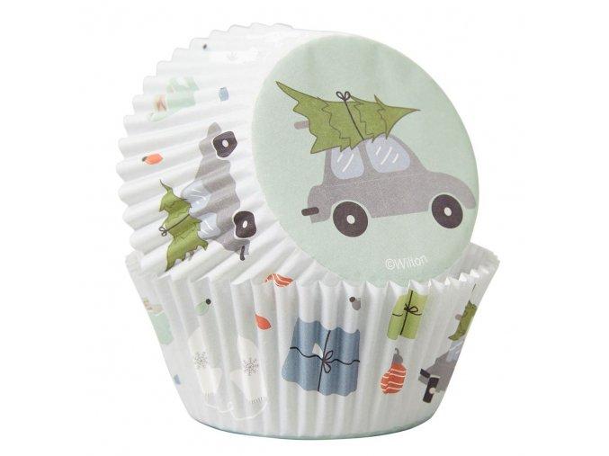 Auto a strom vánoční košíčky 75ks 415-0-0122