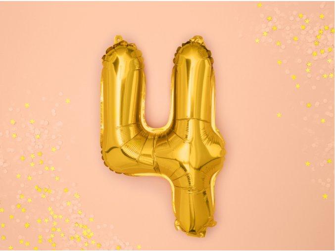 Zlatý fóliový balónek 4 FB10M-4-019