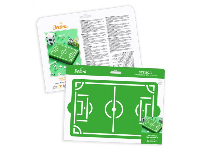 Fotbalové hřiště stencil 9270972