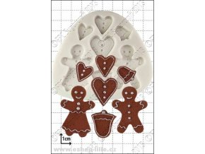 Gingerbread People silikonová forma D030