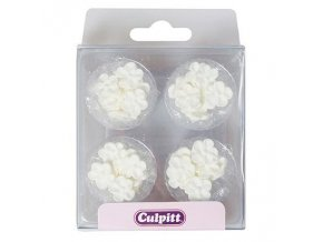 Bílé cukrové kytičky Culpitt 48ks 240