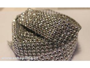 Stříbrný diamantový pás 5126