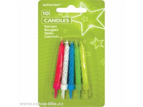 Narozeninové svíčky se třpytkama INT17089-99