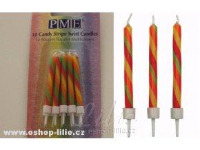 Dortové svíčky PME Twist CA021