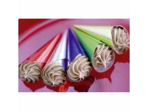 Hliníkové kornoutky na čokoládu  (100 ks) barevné