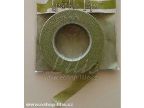 Floristická páska třpytivá zelená světlá FTG208