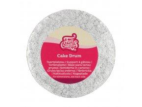 Vyšší dortová stříbrná podložka kruh FC515RD 15cm x 1,2cm