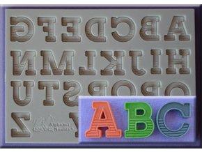 Velká silikonová abeceda s proužky AM0221