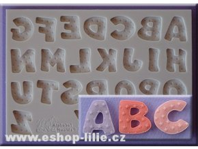 Velká abeceda a hvězdičky silikonová forma AM0212