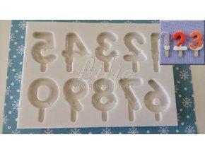 Lolly čísla forma na cukrářské hmoty AM0244