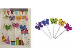 Motýlci dortové svíčky 5 kusů 910447