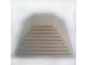 Dortová podložka stříbrná čtverec 25cm x 1,2cm FC625VK