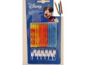 Mickey Mouse dortové svíčky 12 kusů 9292