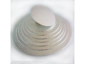 Stříbrná dortová kruhová podložka 27cm FC927RD