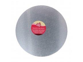 Stříbrná dortová podložka kruh 25cm FC925RD