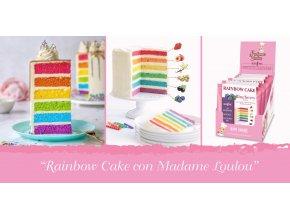 JAHODA Duhový dort sypká směs Madame Loulou