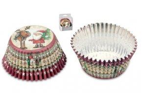 Vánoční cukrářské košíčky 50ks 336407
