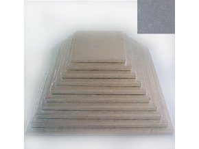 Dortová stříbrná podložka čtverec 35cm x 1,2cm FC635VK