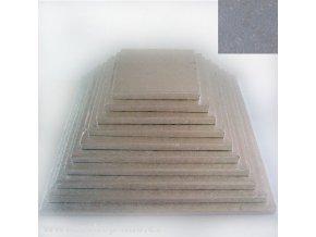 Dortová stříbrná podložka čtverec 32cm x 1,2cm FC633VK
