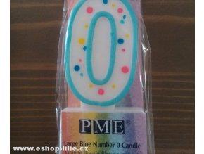 Narozeninová modrá svíčka 0 PME (CA060)