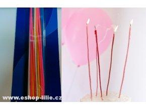 Tenké narozeninové svíčky 20ks 403025