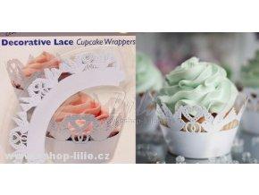 WRAPPERS CW934 ozdobné košíčky PME bílé