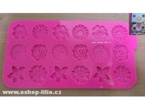 Květiny/silikonová forma na čokoládu 256835
