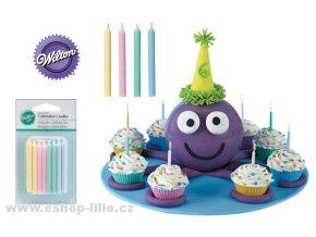 24 barevných dortových svíček Wilton 2811-291