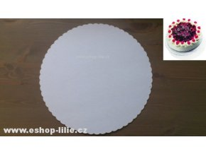 Papírová podložka pod dort 22cm 10 kusů