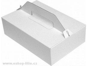 Dortová krabice s uchem 27cmx18cmx8cm 5 kusů