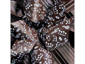 Bílé noty FG2119 transfer folie na čokoládu