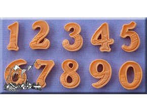 Číslice silikonová formička AM0097