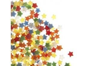 Barevné cukrové hvězdičky 40g FL25822-1