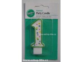 Dortová svíčka 1 zelená Wilton 2811-9101