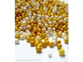 Cukrové perličky zlaté a perleťové FL25427-1