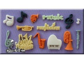 Hudební nástroje AM0016 silikonová formička