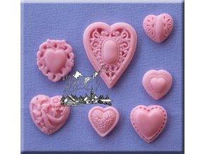 Sada srdcí AM0053 silikonová formička