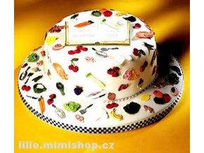 Ovoce a kuchyňské potřeby patchwork