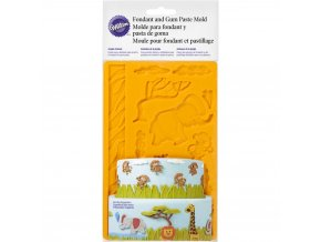 Zvířata z džungle silikonová forma 409-2558